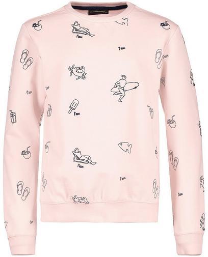 Lichtroze sweater